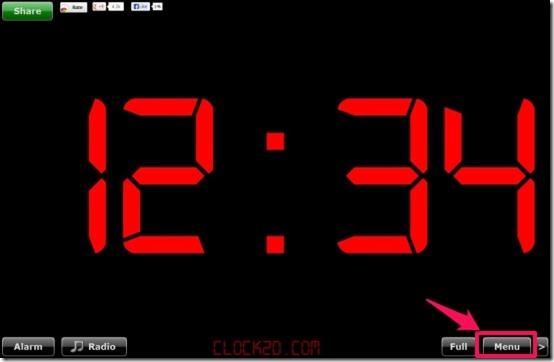 Alarm Clock Radio default theme