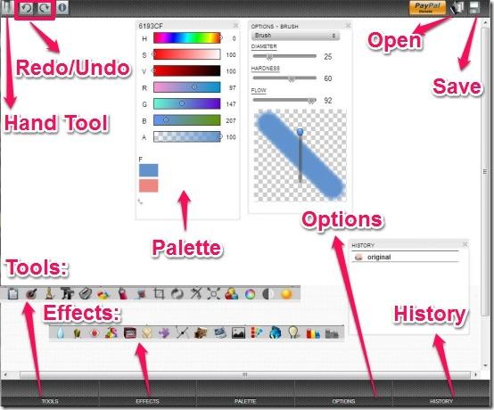 Amopic main interface