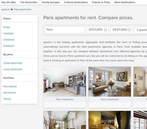 Apartum categories prices