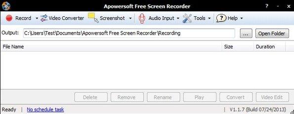 Apowersoft Free Desktop Recorder default window