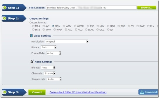 Apowersoft Free Online Video Converter- interface