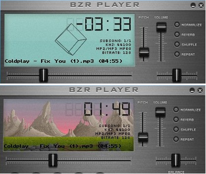 BZR Player visualizations