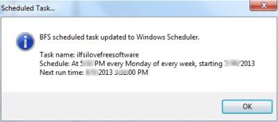 Backup Folder Sync- Scheduled task