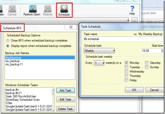 Backup Folder Sync- schedule backups