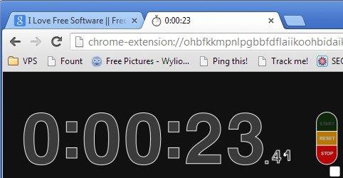 Chrome Stopwatch