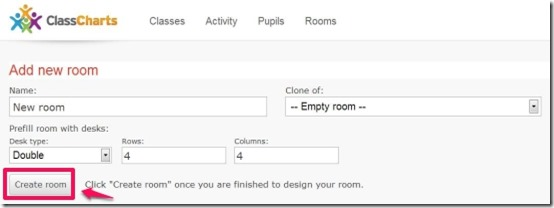 Class Charts Add new room