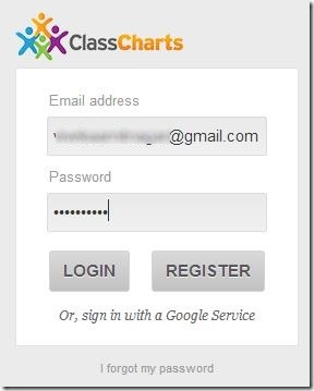 Class Charts sign-in