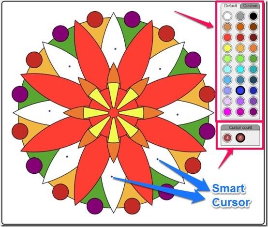 ColorMandala smart cursor and cursor count