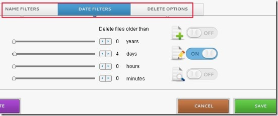 Cyber-D's Autodelete 02 automatically delete old files