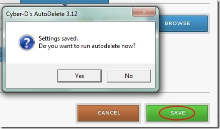 Cyber-D's Autodelete 03 automatically delete old files