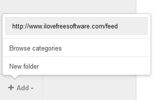 Digg Reader adding feed