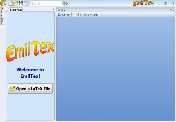EmilTex default window