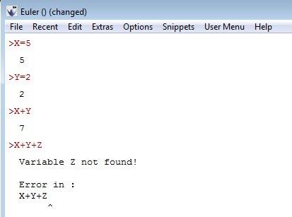 Euler Math Toolbox declaring variables