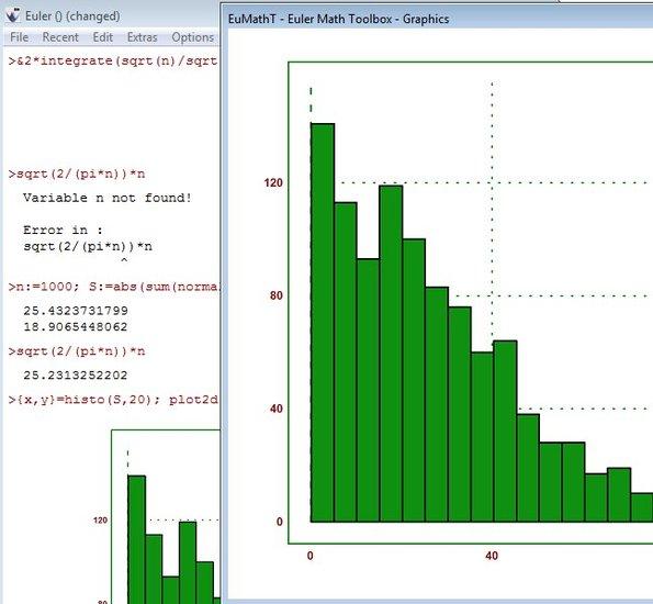 Euler Math Toolbox graph working
