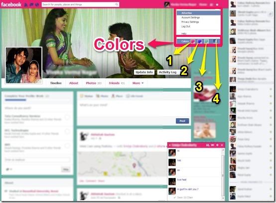 Facebook Chat Platinum colors
