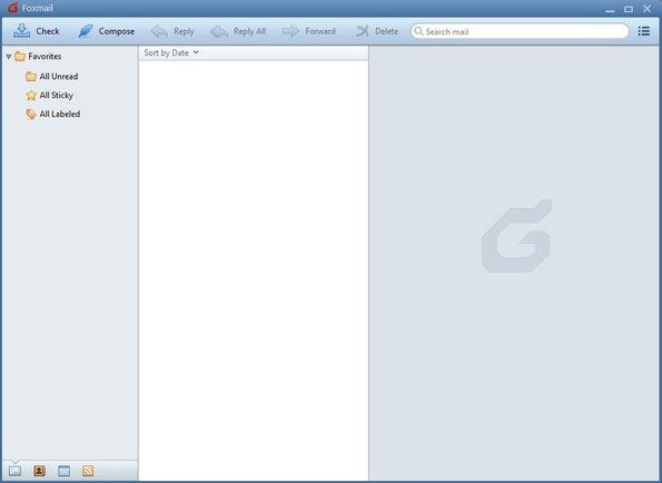 Foxmail default window