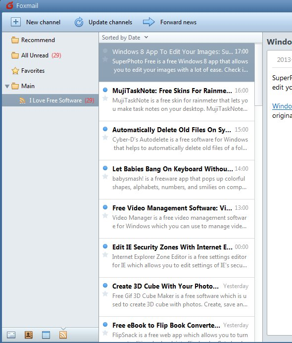 Foxmail rss feed reader