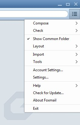 Foxmail settings