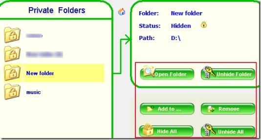 Free Folder Hider 03 software for hiding folders
