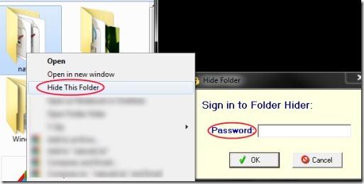 Free Folder Hider 04 software for hiding folders