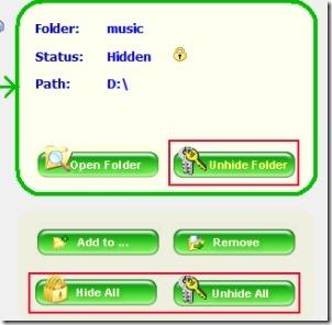 Free Folder Hider 05 software for hiding folders