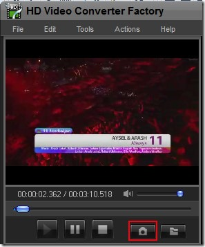HD Video Conveter Factory- integrated media player with capture video snapshot feature