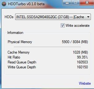 HDDTurbo default window