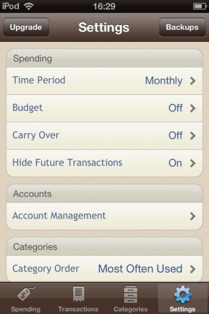 Spending Tracker-settings-Spending Tracker