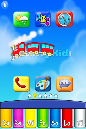 phone4kids-home page- educational app for kids