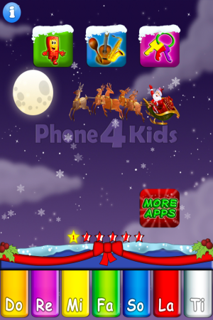 phone4kids-Santa theme-educational app for kids