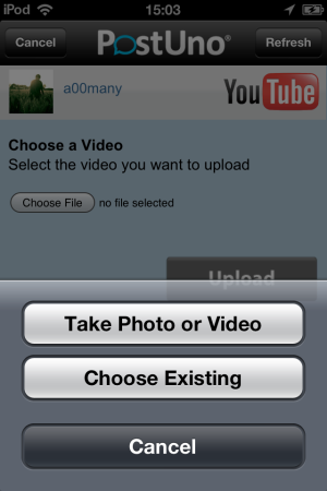PostUno-choose file to upload on youtube-Post To Multiple Social Networks