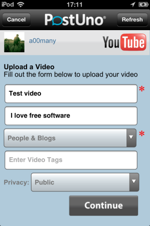 PostUno-Upload to Youtube-Post To Multiple Social Networks