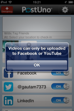 PostUno-post video to Facebook-post to multiple social networks