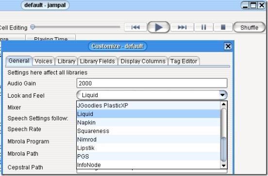 Jampal- customize library