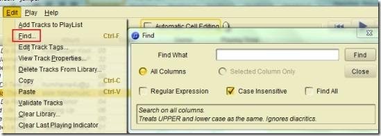 Jampal- find option