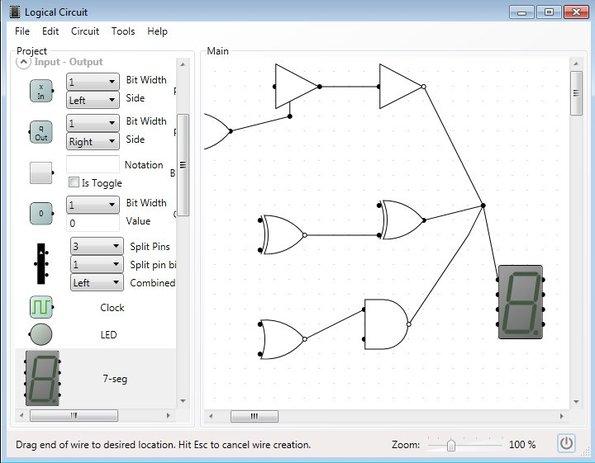 LogicCircuit working schematic