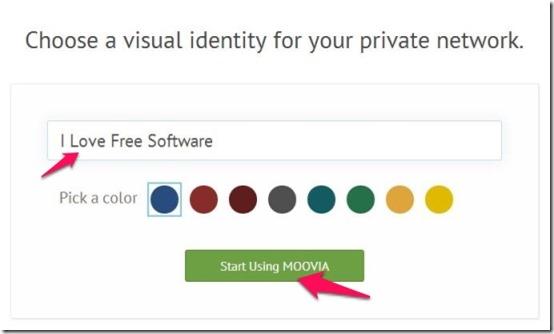 MOOVIA set private network