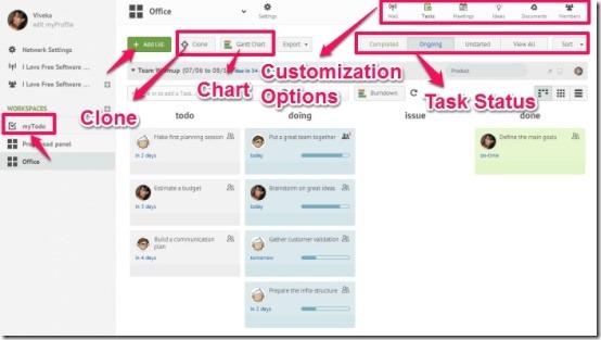 MOOVIA workspace customization