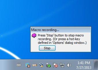 MacroToolbar recording macro