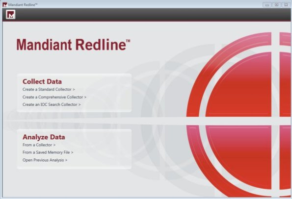 Mandiant Redline default window