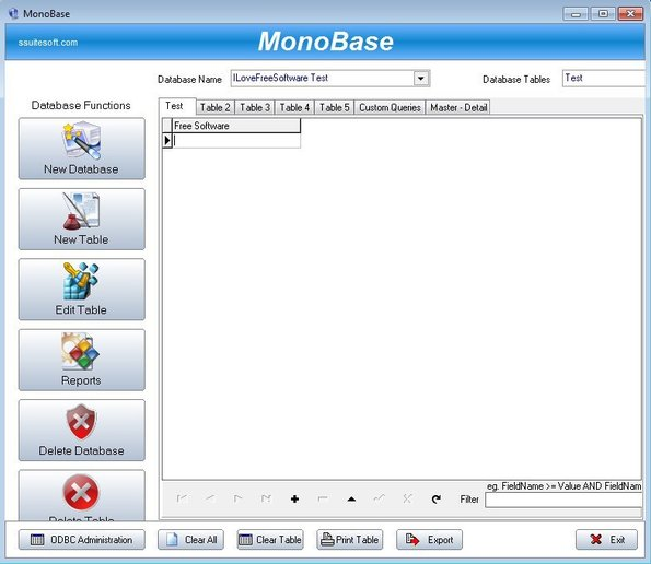 MonoBase default window