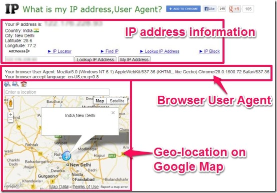 Track IP Address, Location On Google Map With My IP Address