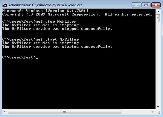 NxFilter default window
