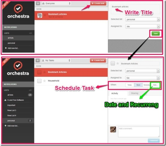 Orchestra To-do create task