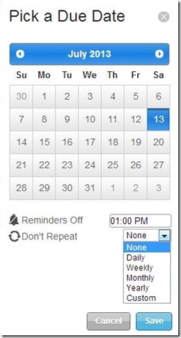 Orchestra To-do date and recurring