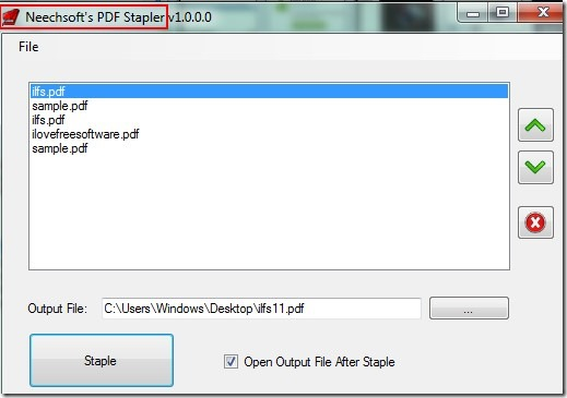PDF Stapler 01 merge pdf files free