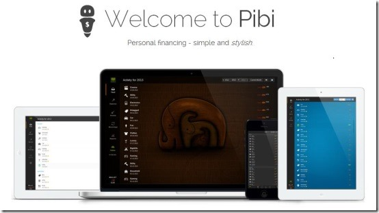 Pibi Welcome page