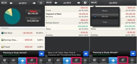 Pocket expense-transactions