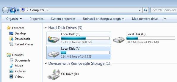 RAM Disk created Ram drive