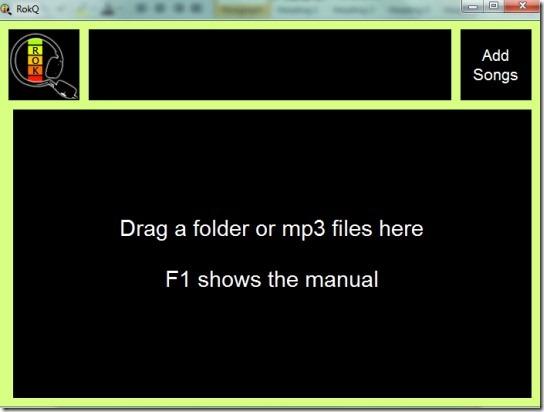 RokQ- add mp3 files